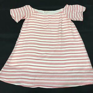 The Impeccable Pig red and white stripe mini dress